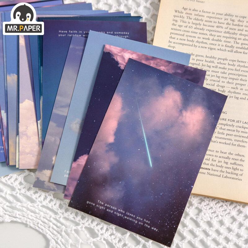 El Sr. De papel 30 unids/caja Ins estilo cayendo bonita serie postales creativo bendición por escrito de felicitación regalo decoración Collage Material