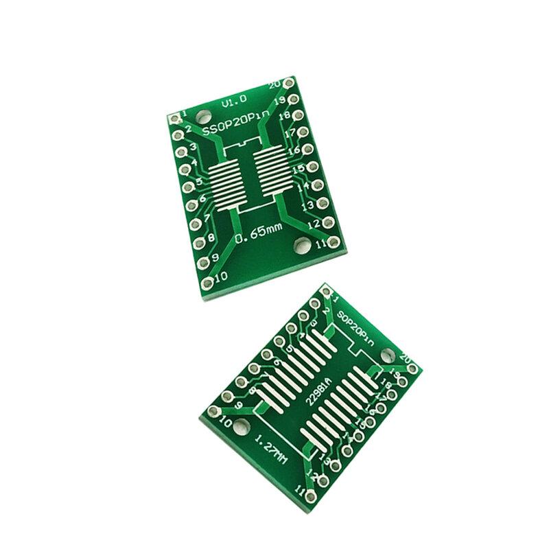 10 قطعة/الوحدة SOP20 SSOP20 TSSOP20 نقل إلى DIP20 IC محول تحويل المقبس مجلس وحدة محولات لوحة 0.65 مللي متر 1.27 مللي متر