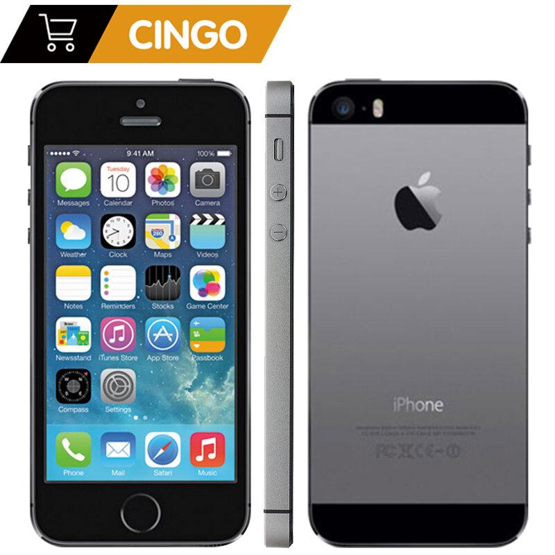 """فون 5s مصنع مقفلة أبل فون 5s 16GB 32GB 64GB ROM 8MP iOS 4.0 """"IPS 8MP WIFI GPS سيري 4G LTE الهاتف المحمول"""