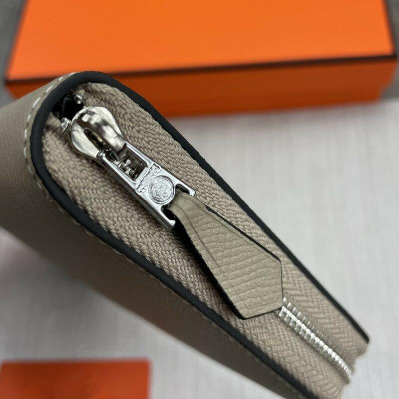 숙녀 고품질 정품 가죽 단색 열매 패턴 모바일 지갑 동전 purse19cm