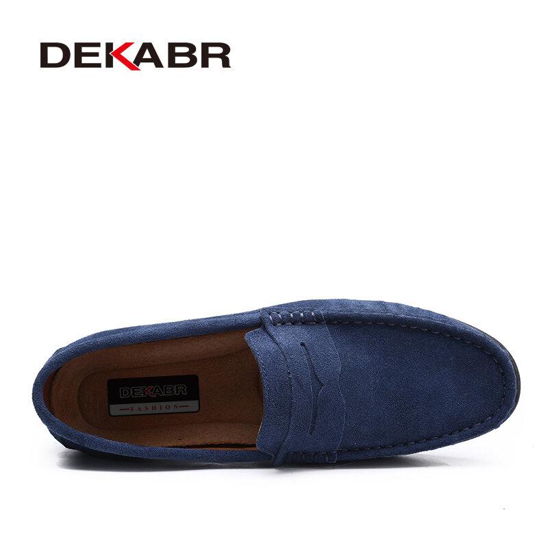 DEKABR Mocassins de bonne qualité hommes, Chaussures de conduite légères, mocassins de bonne qualité en cuir véritable, tendance, printemps été