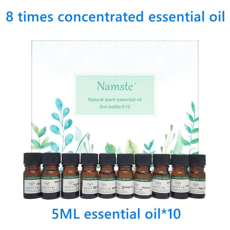 Set di campioni di olio essenziale di vari tipi di serie di fragranze 5ml adatto per diffusore di aromi umidificatore d'aria ionizzatore d'aria