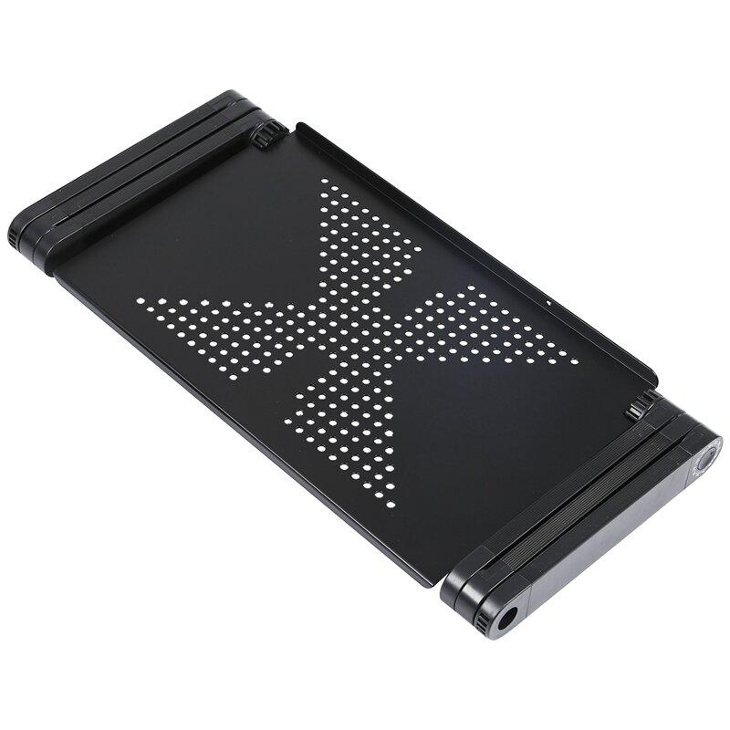 TFBC-مكتب كمبيوتر محمول قابل للطي وقابل للتعديل ، دعم طاولة ، صينية سرير أريكة ، أسود