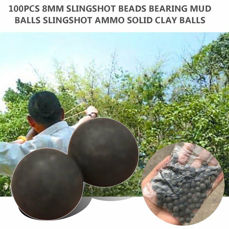 100 pz 10mm perline fionda cuscinetto sfere di fango sicurezza Non tossico fionda munizioni sfere di argilla solida per caccia all'aperto tiro
