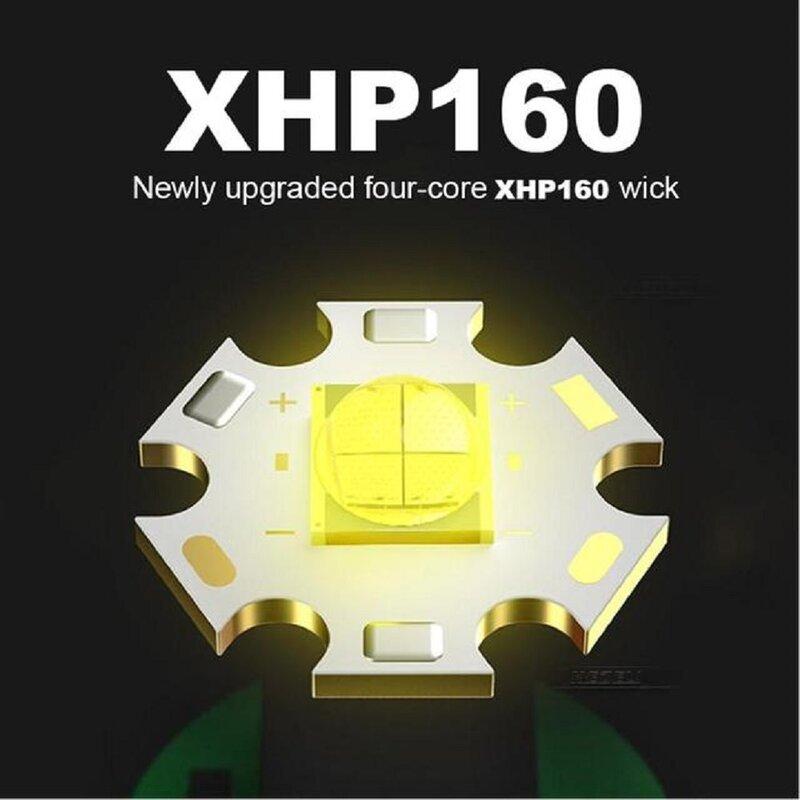 Super XHP160 Mächtigsten Led Scheinwerfer XHP90 High Power Led Scheinwerfer 18650 Wiederaufladbare Kopf taschenlampe Usb Angeln Kopf Lampe