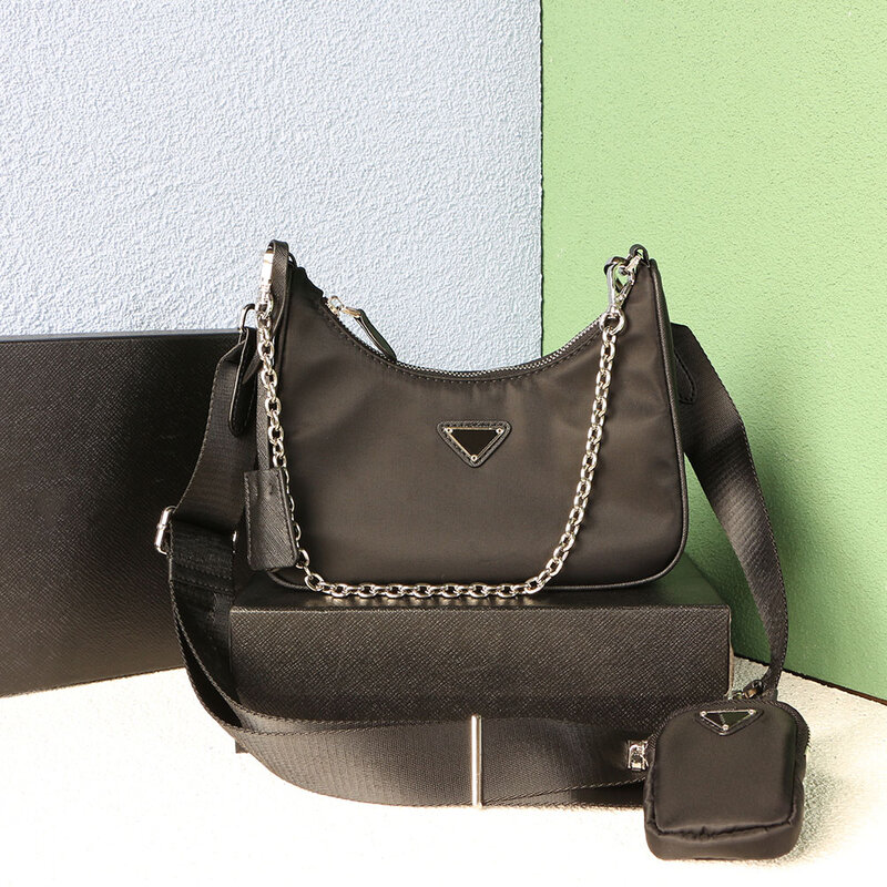 PD High Quality Women's Cross-body Bag Hobo Bag Luxury Brand Three-piece Underarm Bag Single Shoulder Bag Women's Handbag