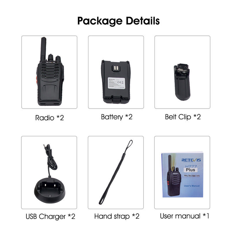 Retevis H777 زائد PMR 446 راديو اسلكية تخاطب 1 أو 2 قطعة PTT اسلكية اسلكي FRS H777 USB المحمولة PTT اتجاهين الاذاعة للصيد