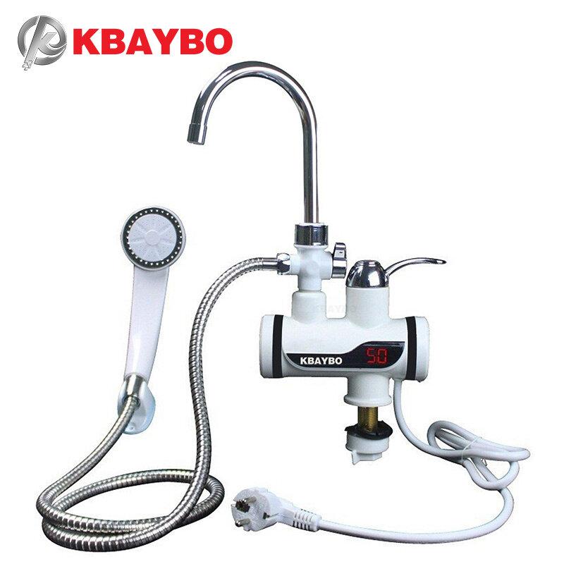 Robinet chauffe-eau instantané électrique, pour douche ou cuisine, pommeau de douche, puissance 3000W, chauffe instantanément