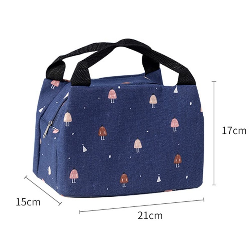 Tote Lunch Bag Portable Thermal Bag Insulated Lunch Box Food Picnic Beach Cooler Bag Fridge Cool Lunch Bags For Women Kids