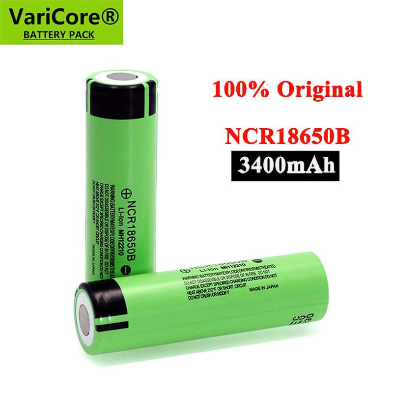 100% جديد الأصلي NCR18650B 3.7 فولت 3400mah 18650 بطاريّة ليثيوم قابلة لإعادة الشحن لبطاريات المصباح