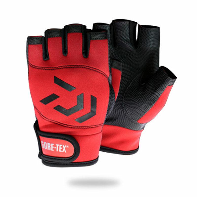 1คู่ DAIWA Anti-Slip 3นิ้วมือตัดถุงมือตกปลากันน้ำ5นิ้วตัดหนัง PU ถุงมือตกปลาล่าสัตว์ถุงมือ Pesca ถุงมือ