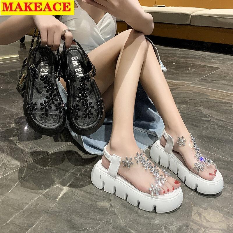 Sandal Platform Shoes 2021 Summer New Soft Soles Open Toe Fashion Transparent Women Sandal Outdoor Leisure Sports Women's Shoes