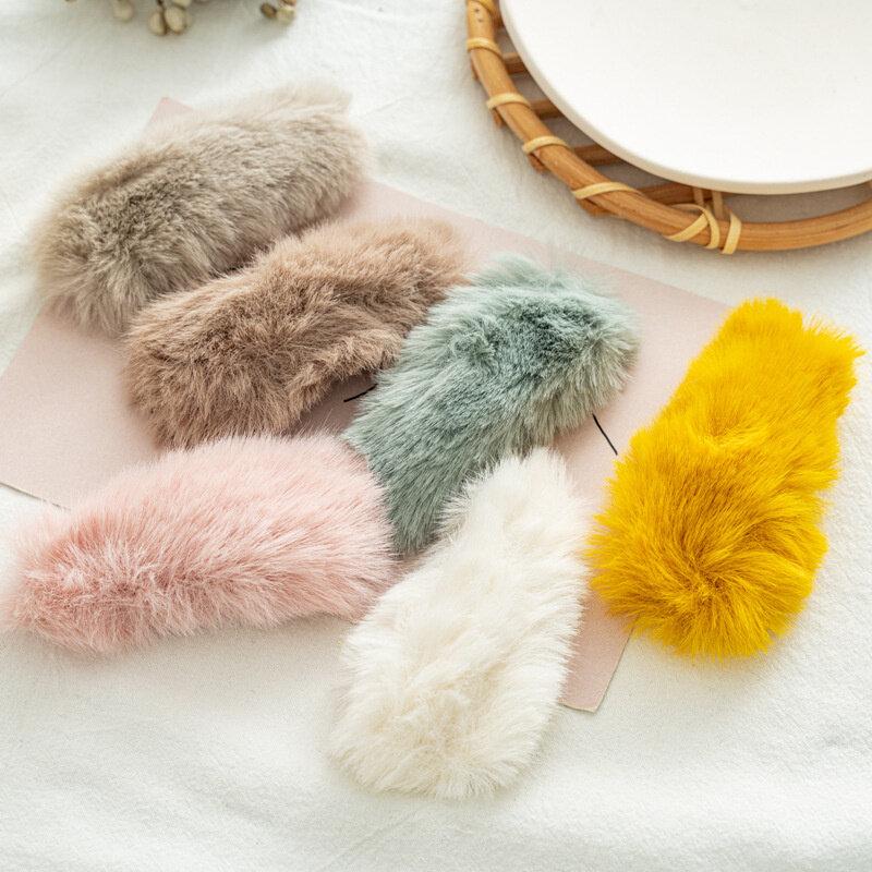 Korean Net Red Rex Rabbit Hairpin Headdress Women's Versatile Hairpin Side Clip BB Clip Hairpin Headdress Hair Accessories Gift