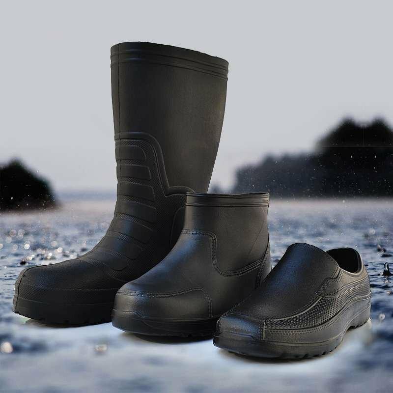Aleefall – bottes de pluie en mousse Eva pour hommes, chaussures de travail épaisses, hautes, moyennes et basses, antidérapantes, résistantes à l'usure, sodas, résistantes aux acides