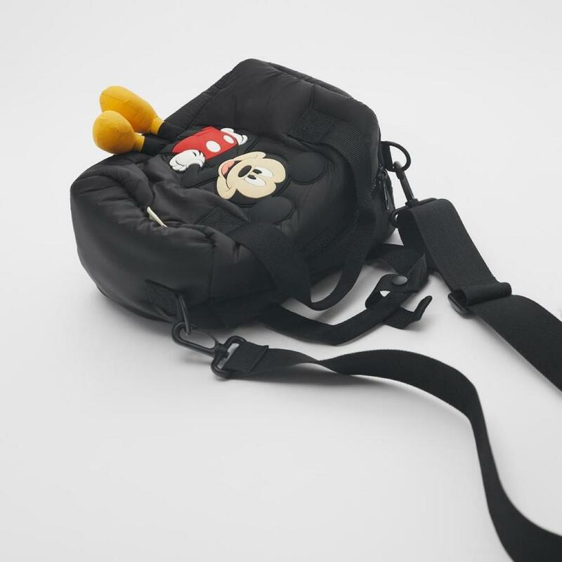 Disney new Mickey Mouse girl children small square shoulder messenger mini bag handbag kids cartoon mickey handbag black