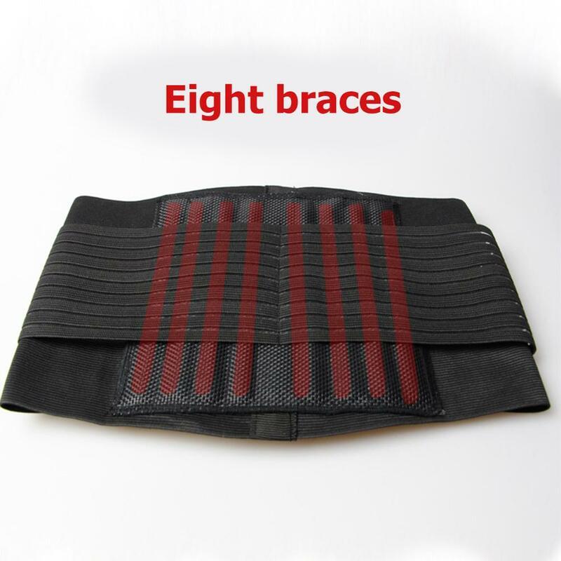Faja de apoyo para dolor Lumbar ajustable, Lumbar, cintura baja, alivio del dolor de espalda, terapia magnética, soporte de cintura para deportes