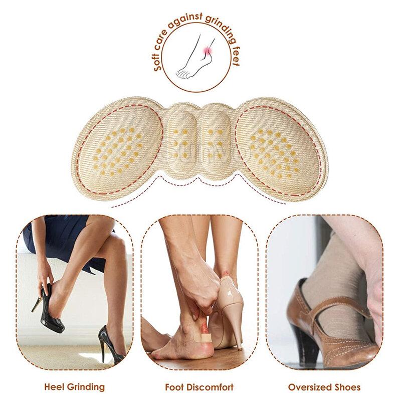 6คู่Heel Insoles Padsสำหรับรองเท้าส้นสูงLiner Grips Protectorสติกเกอร์เท้าบรรเทาอาการปวดรองเท้าใส่ส้นเบาะPad