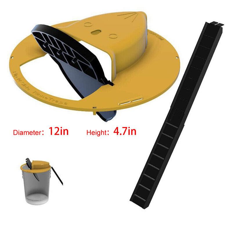 Wiederverwendbare Clamshell Maus Falle Automatisch Reset Kunststoff In/Outdoor Rutsche Eimer Deckel Tödliche Falle Maus Tür Stil Multi Fangen