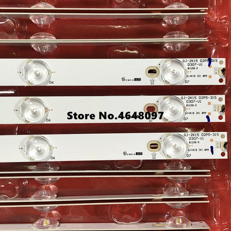 100% 새로운 614mm * 18mm 7LED LED 백라이트 스트립 Phili p BDM3201F GJ315D07-ZC14C-03 CL32D07-ZC21CG-01