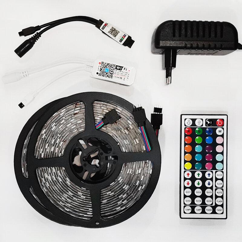 12V RGB LED 스트립 조명 블루투스 와이파이 Luces Led DC 5050 SMD2835 유연한 방수 테이프 다이오드 원격 제어 빛 방에 대 한