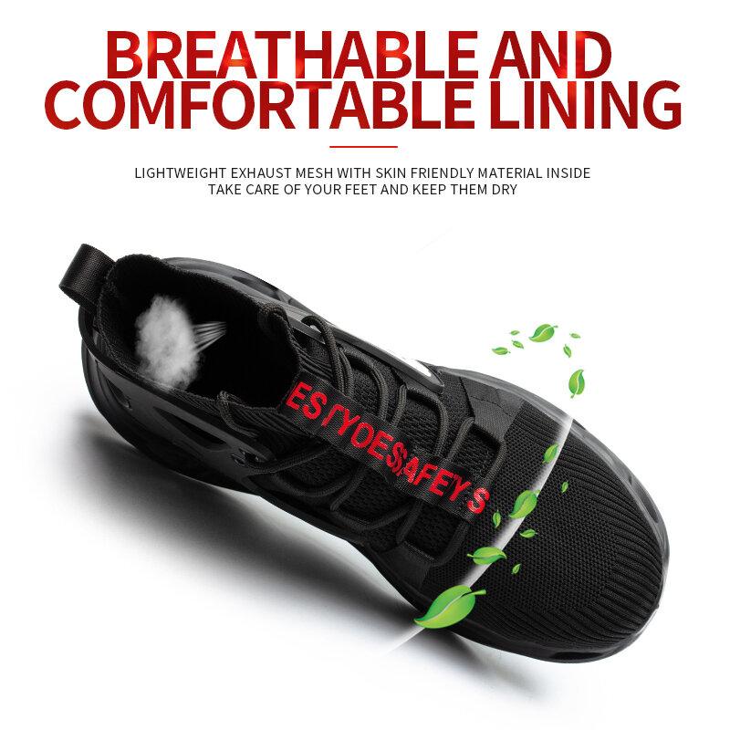 Chaussures de sécurité respirantes et antidérapantes pour homme, nouveau, idéal pour le travail, étanche, SRA, EVA, taille 48