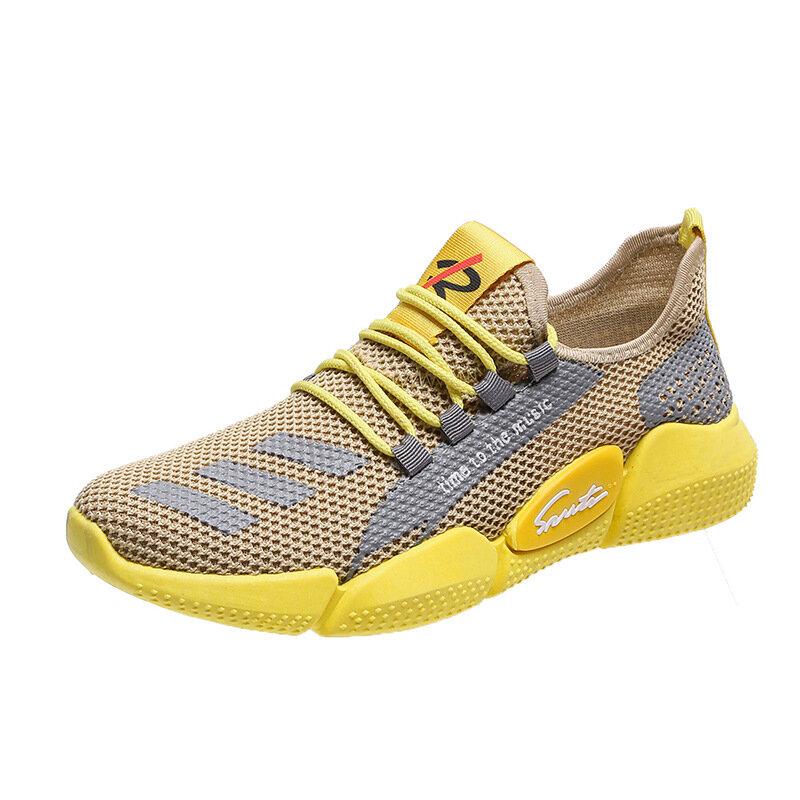 Chaussures De course respirantes et légères pour hommes, baskets d'été, De marche, taille 39-44