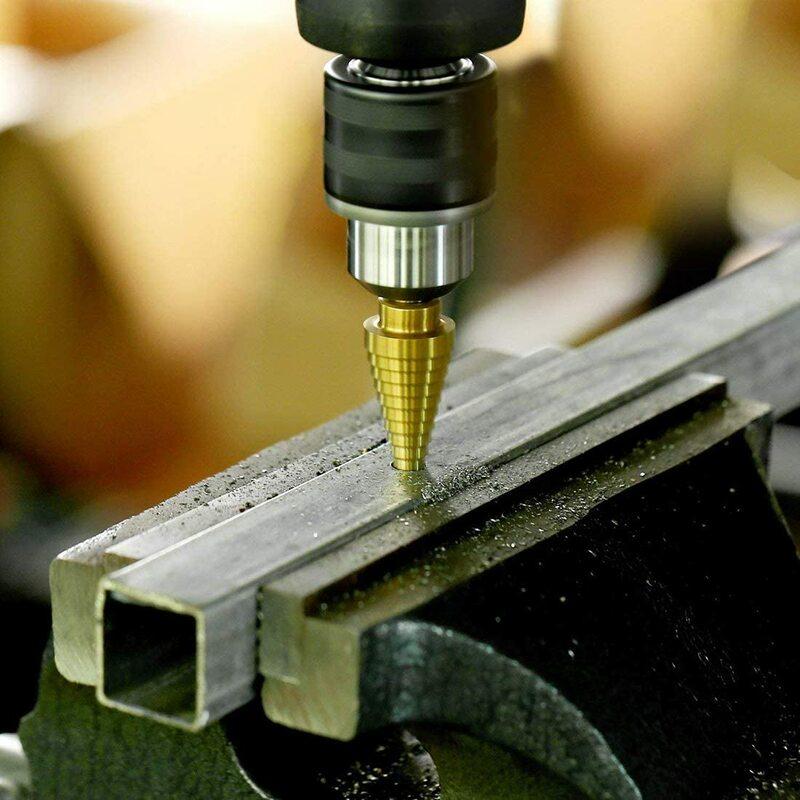 3 Teile/satz 3-12mm 4-12mm 4-20mm HSS Gerade Nut Schritt Bohrer titan Beschichtetes Holz Metall Loch Cutter Core Bohren Werkzeuge Set