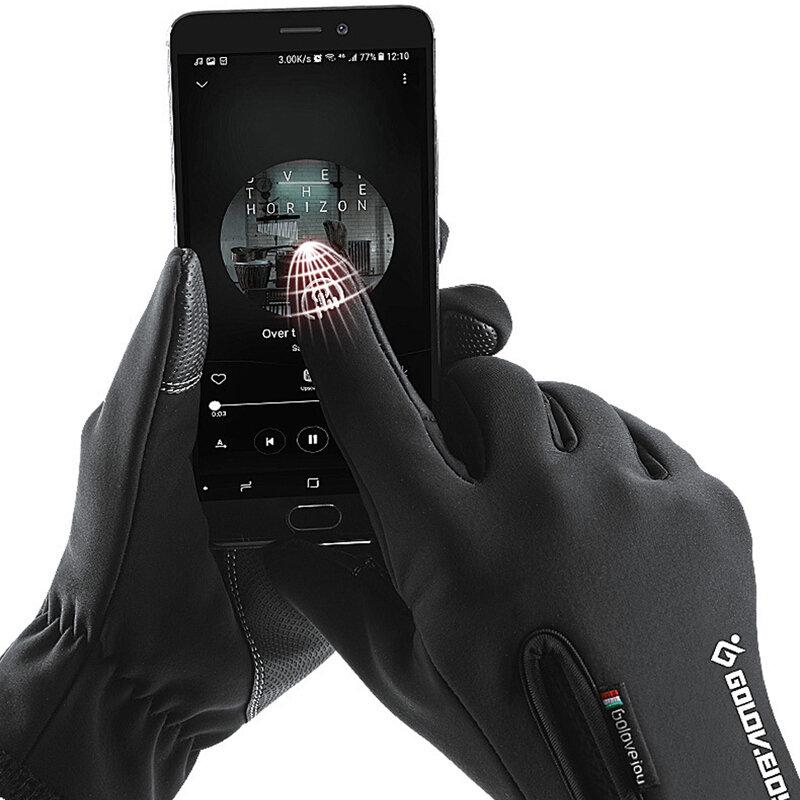 Wasserdicht Touchscreen Reiten Handschuhe für Männer Frauen Kind Reit Reiten Handschuhe Schwarz und Grau