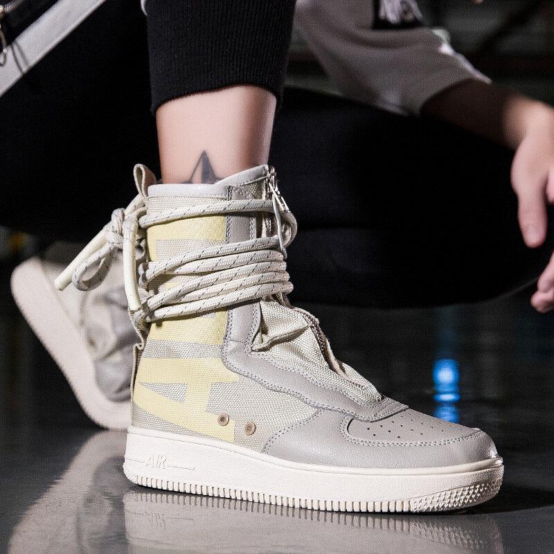 2021 jesienno-zimowa nowa para wysokiej góry dorywczo mody trampki cały mecz koreański Trend brezentowych butów męskich butów ZZ306