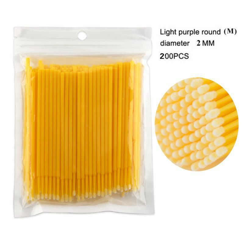 100PCS/50PCS 일회용 다채로운 면봉 MicroBrush 속눈썹 확장 청소 면봉 화장품 도구
