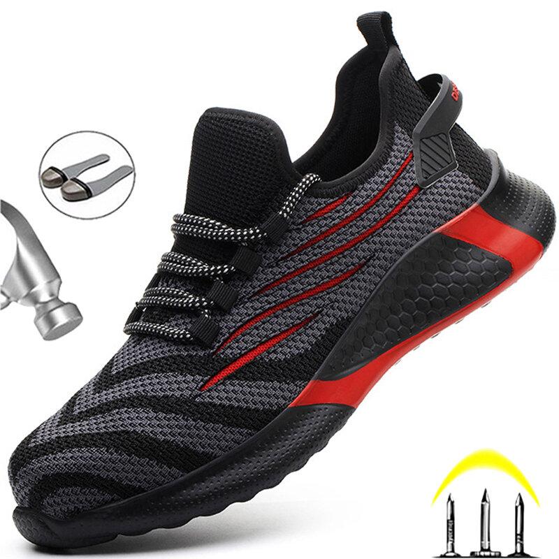 Chaussures de sécurité Anti-crevaison pour homme, baskets de travail légères et indestructibles
