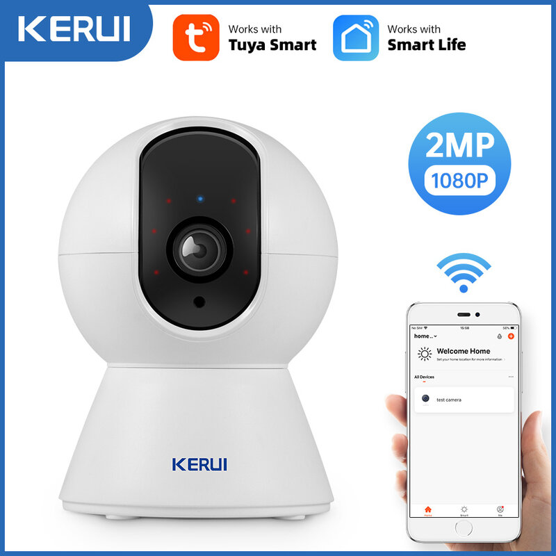 KERUI 1080P Tuya Smart Mini Wifi IP Kamera Indoor Wireless Security Startseite CCTV Überwachung Kamera 2MP Auto Tracking Nacht vision