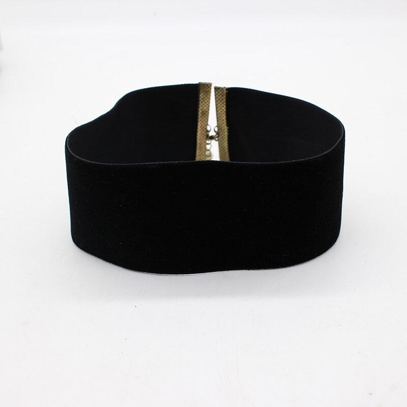 قلادة عنق مخملية سوداء على الطراز القوطي للنساء ، إكسسوار نسائي ، مجوهرات على الرقبة ، Kpop ، 2021