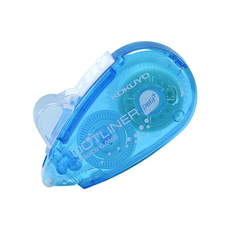 2ชิ้น/แพ็ค Mini คู่ลูกกลิ้งกาวเทปกาว Dot Liner Petit ทิ้ง,สีฟ้า,6M