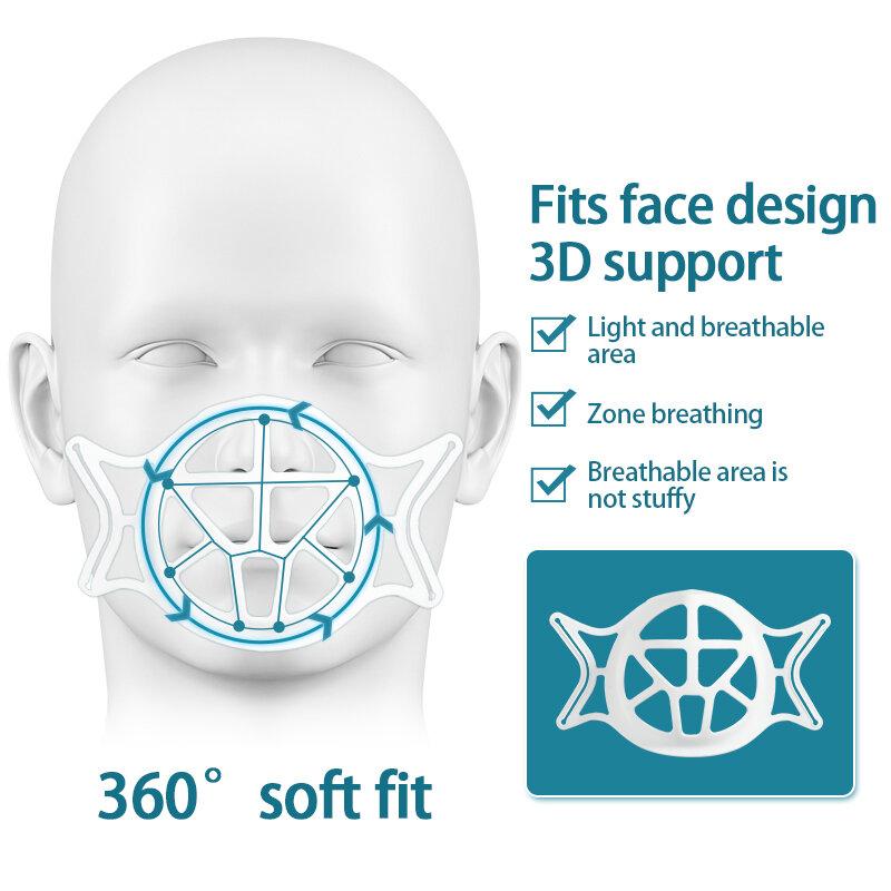 5 stücke Wiederverwendbare 3D Maske Halterung Gesicht Maske Innere Unterstützung Rahmen Bequem Atmen Kunststoff Maske Halter Halterung Atmungs Ventil