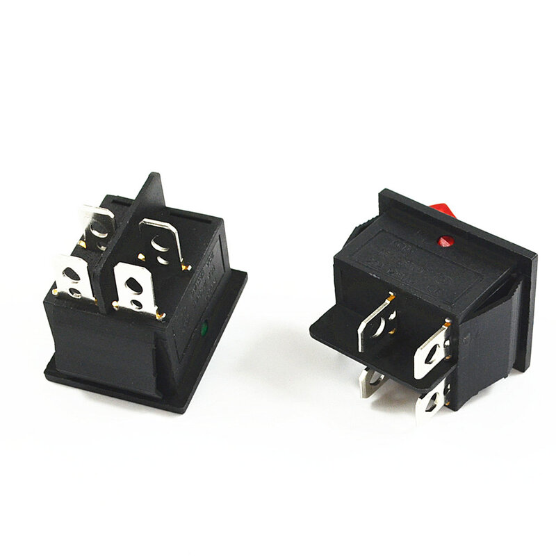 مفتاح تبديل الطاقة مع 4 دبابيس ، 16 أمبير ، 250 فولت تيار متردد ، 20 أمبير ، 125 فولت تيار متردد ، KCD4