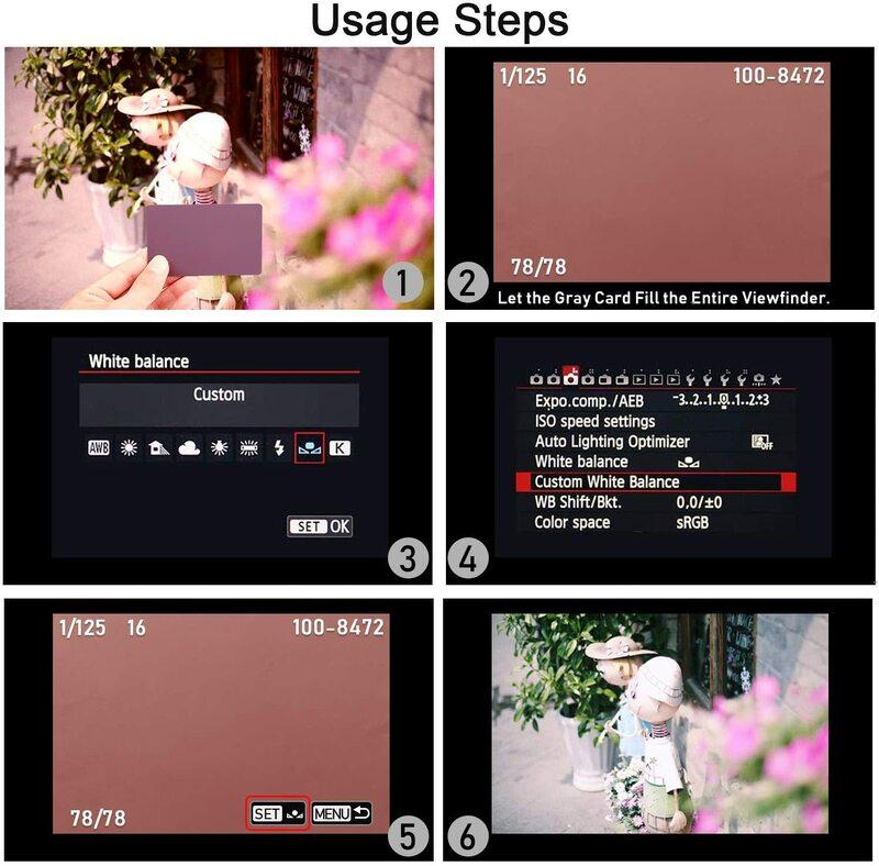 2in1 Grau Weißabgleich Karte 12'' 30CM 18% Weiß Balance Karte Mini Grau Karte Fotografische Kalibrierung Kamera Checker DSLR