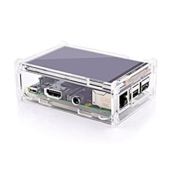 """Best Prezzo Originale 3.5 """"TFT LCD Touch Screen Display per Raspberry Pi 4B / Raspberry Pi 3 Modello B bordo + Acrilico Case + Stylus"""