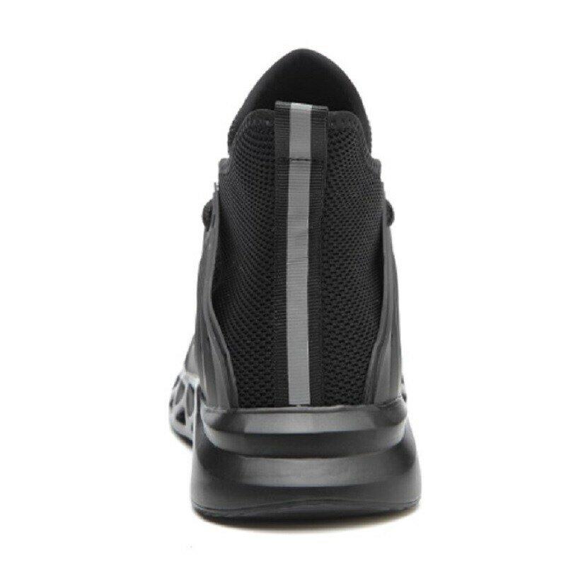 Chaussures de sécurité avec bout en métal Indestructible Ryder, baskets de travail avec bout en acier, imperméables et respirantes