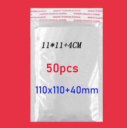50pcs/(11*11cm + 4cm) bianco Bolla Della Bolla Della Busta Sacchetto della Pellicola Pellicola Della Perla Busta Shock Sacchetto