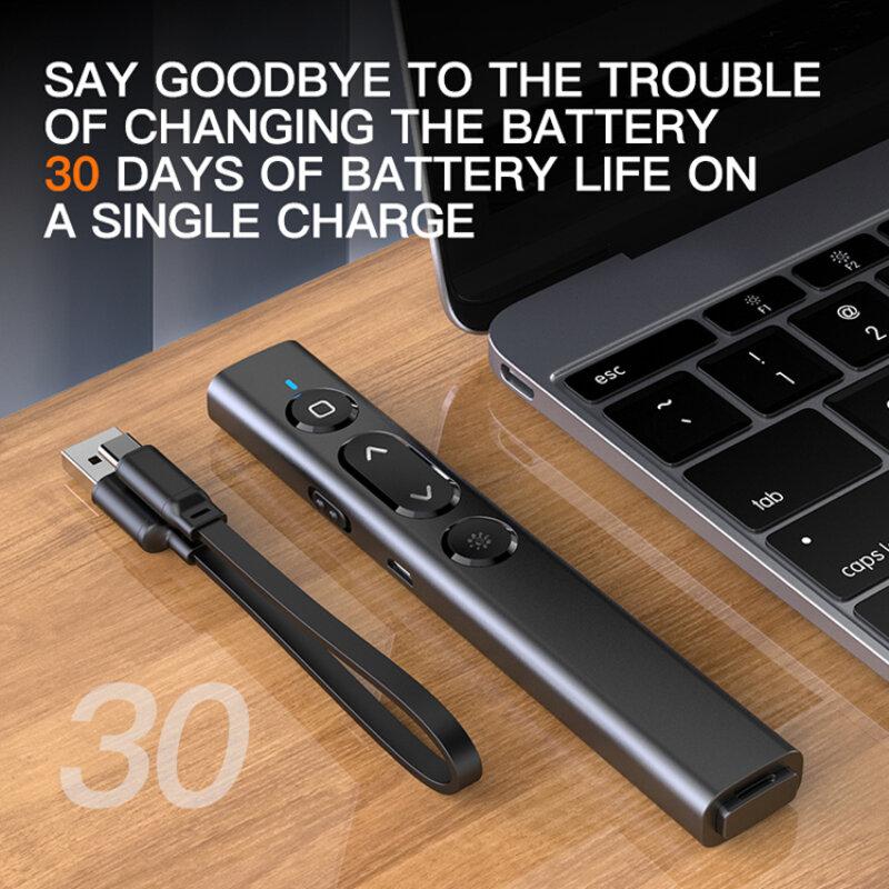 2.4GHz مقدم لاسلكي USB مؤشر ليزر مع جهاز التحكم عن بعد الأشعة تحت الحمراء مقدم القلم لجهاز العرض باور بوينت باور بوينت الشريحة