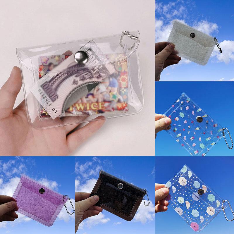 투명 방수 PVC 주최자 케이스 지갑 신용 카드 홀더 사진 가방 남여 동전 지갑 ID 카드 홀더 키 가방 지갑