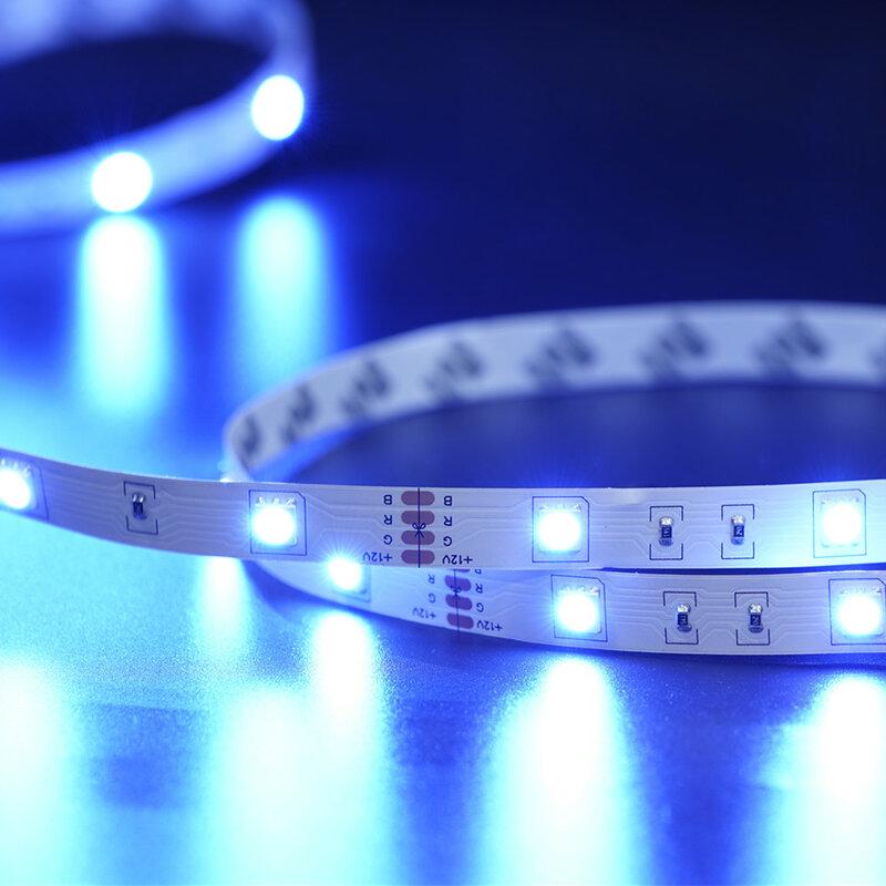 LED luces de tira RGB 5050 Bluetooth 2835 infrarrojos lámpara Flexible cinta con diodo DC 12V 5M 10M 20M colores casa Decoración