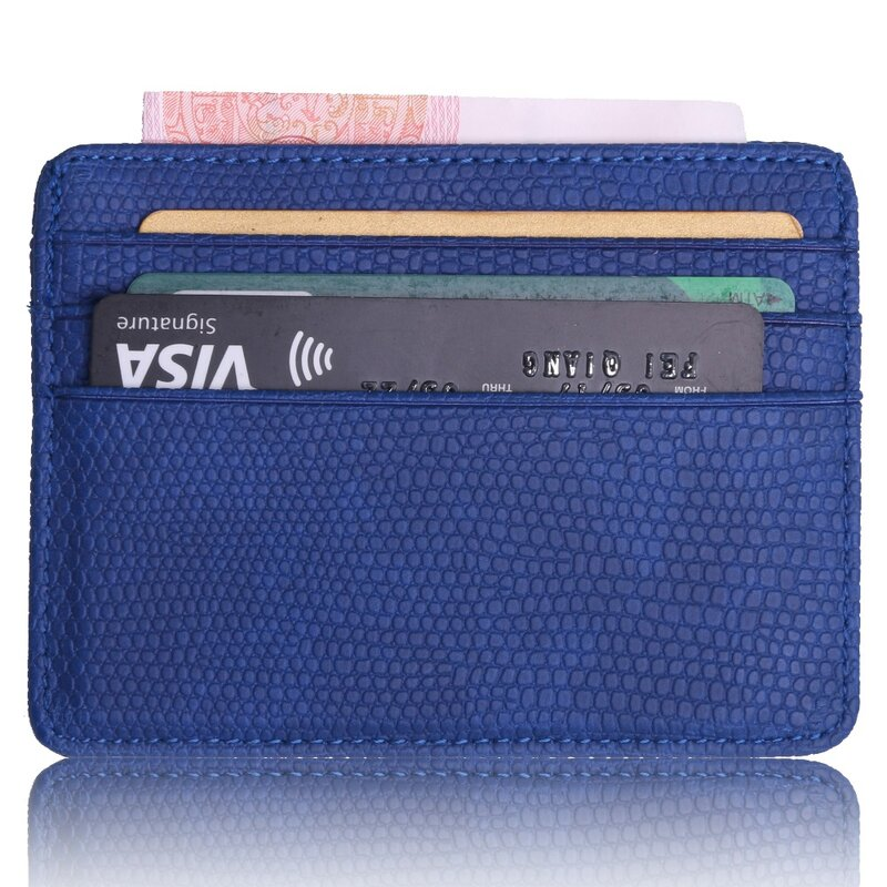 Fassory-Mini estuche pequeño de viaje con patrón de lagarto, soporte de tarjeta de identificación de negocios, billetera para hombre y mujer con ventana de identificación