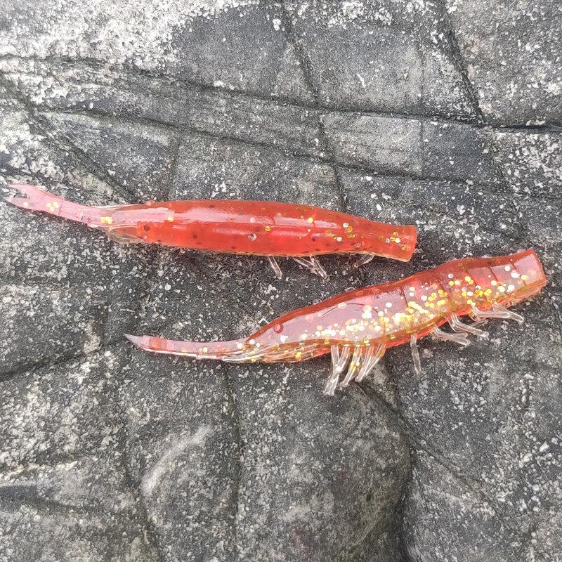 ANKIKEDI ซิลิโคนเหยื่อกัดกุ้งปลาคาร์พเบส Pike Fishing Lure Gamba Gambas Gambita Lure,sea หนอน Swimbait Rockfishing