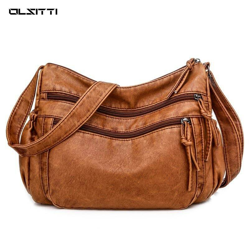 Luxury Cowhide Casual Crossbody Bags for Women 2021 Brand Fashion Soft Genuine Leather Shoulder Bag Ladies Casual  Messenger Bag