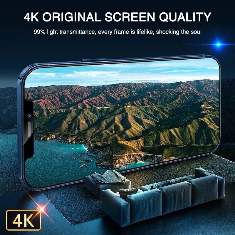 Funda completa de vidrio templado para iPhone, Protector de pantalla 9H para iPhone 11 12 Pro Max X XR XS Max 8 7 Plus SE 2020