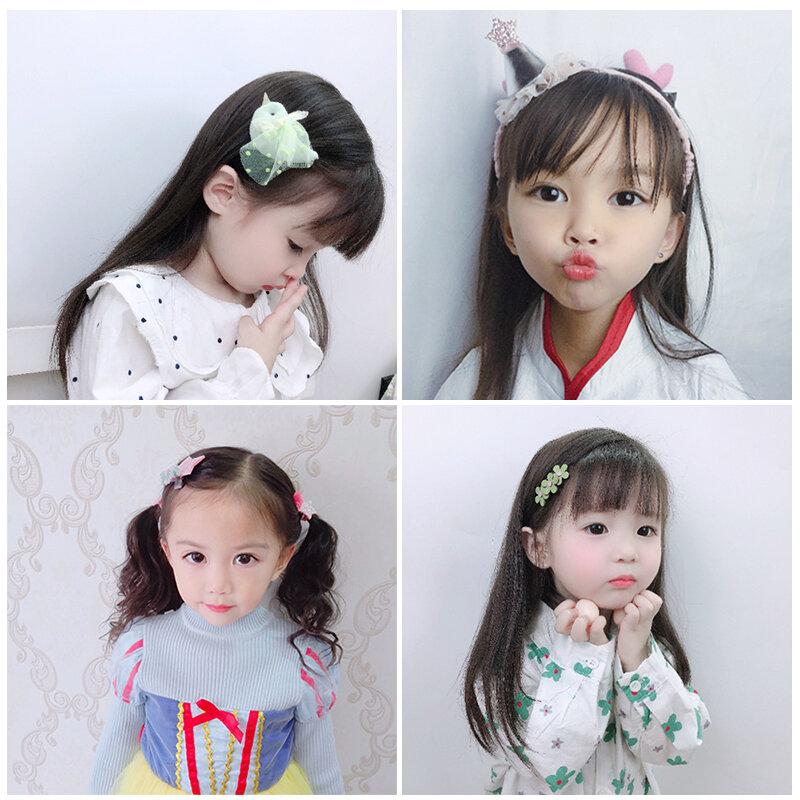 เจ้าหญิงอุปกรณ์เสริมผมของขวัญ Hair Ties กล่องเด็กแถบคาดศีรษะผมสาวคลิป Hairpin Handmade Little Girl Headdress ของขวัญ
