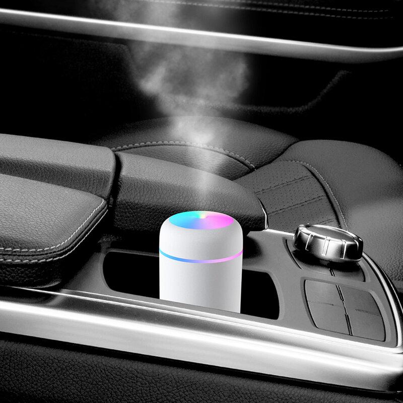 300ml USB Elektrische Aromatherapie Öl Diffusor Ultraschall-luftbefeuchter Mist Maker mit Bunte Licht für Heim und Büro und Auto