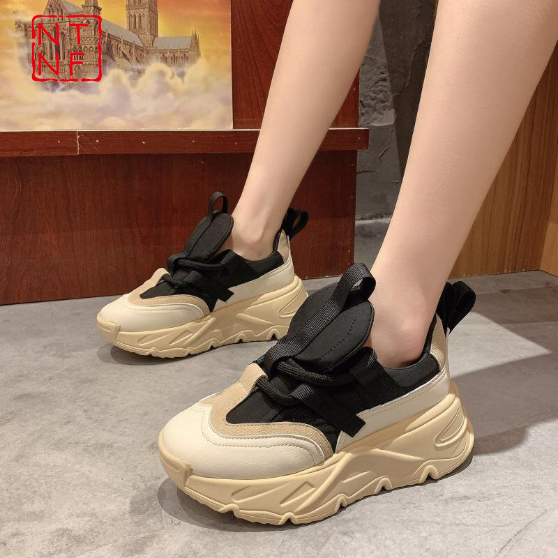 Sneakers Women 2021 Platform Shoes Fashion Thick Bottom Casual Designer Chunky Sneakers Women Sport Shoes Basket Femme Trainers